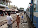 All aboard! Soon the train from Danang to Nha Trang will leave the station. Click to enlarge